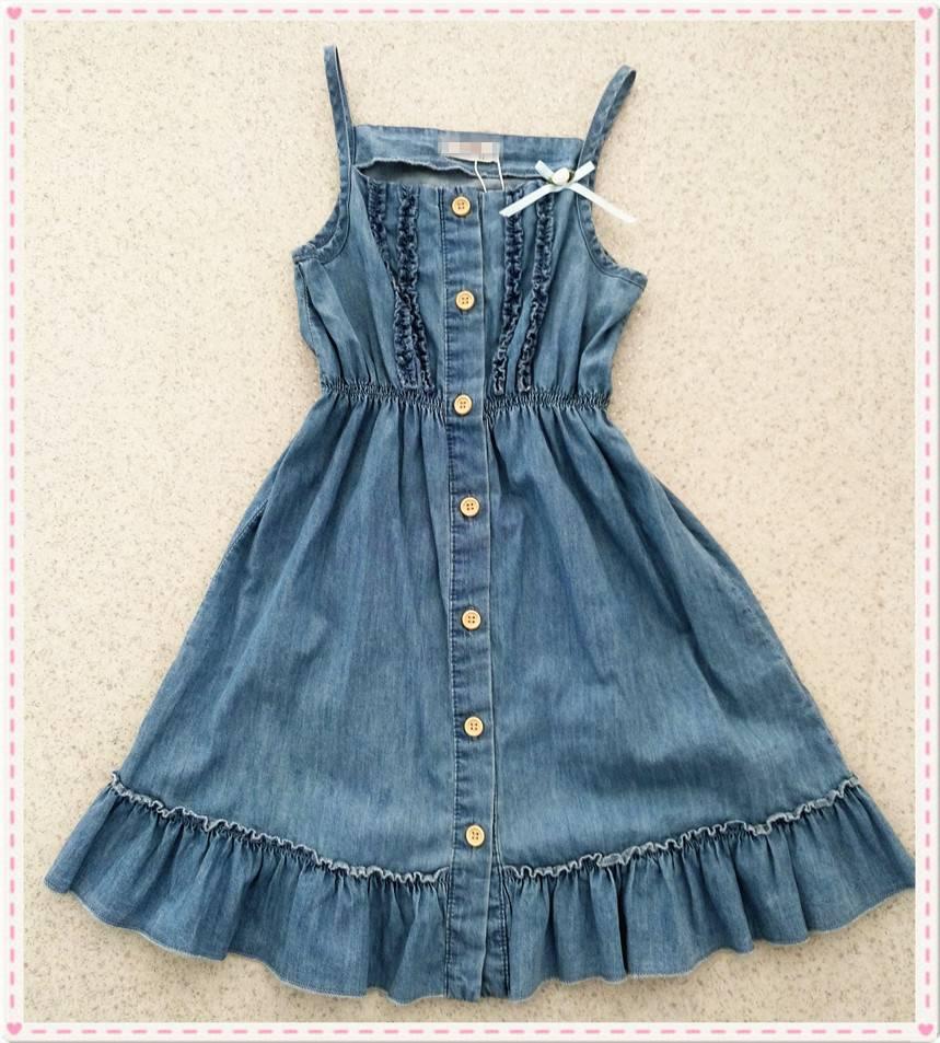 New fashion style girls denim dresses