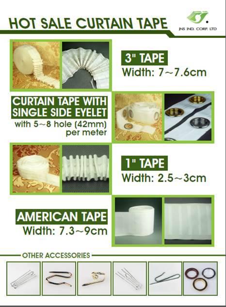 CURTAIN TAPE, curtain heading tape types,pencil pleat curtain tape