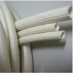 Inside silicone rubber and outside glassfiber tubes