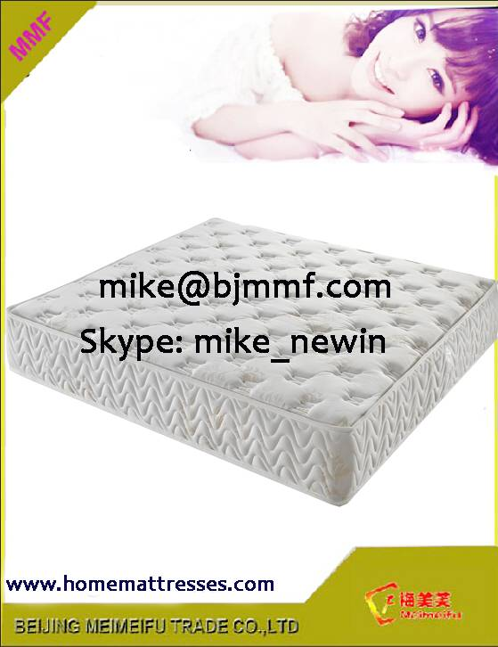 2015 New Models Double pocket coil spring mattress with high quality knitted fabric