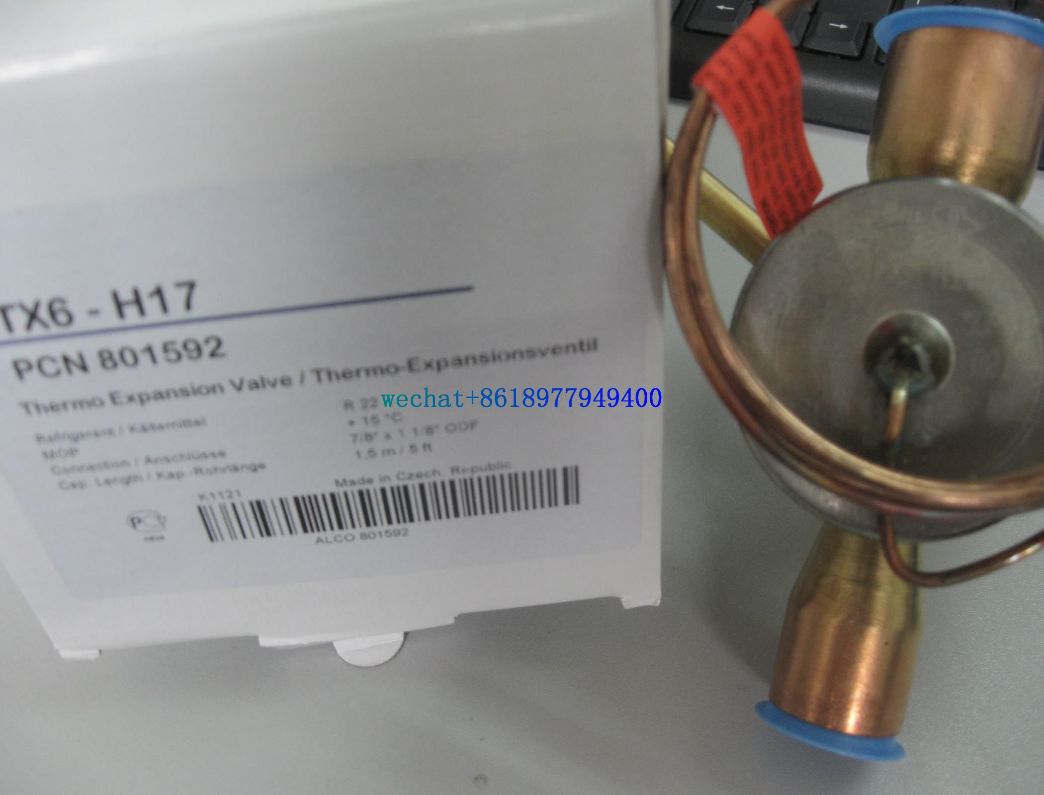 Eemerson types TX6-H16/H14/N17 Thermal Expansion Valves