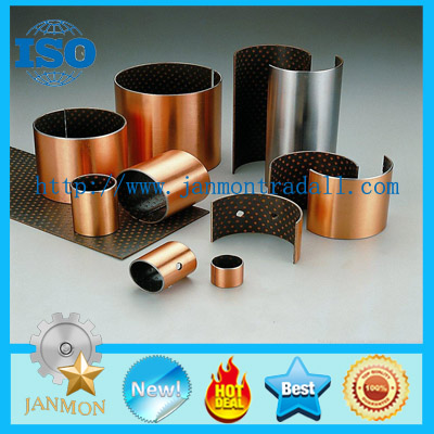 Du bush coat PTFE Teflon, DU oilless bearing bushing, DU oilless bronze PTFE teflon bush, Bushings