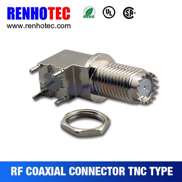 China professional factory Four Pin Female 90 Degree TNC Connector
