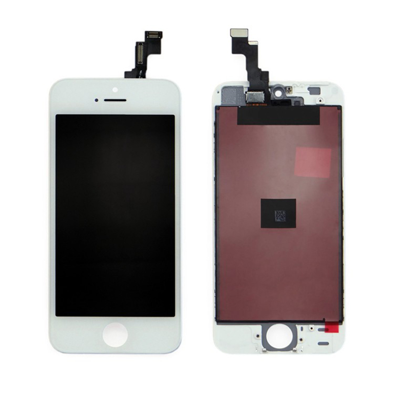 For Apple iPhone 5 LCD Screen and Digitizer Assembly with Frame Replacement - White - AAA Original Q