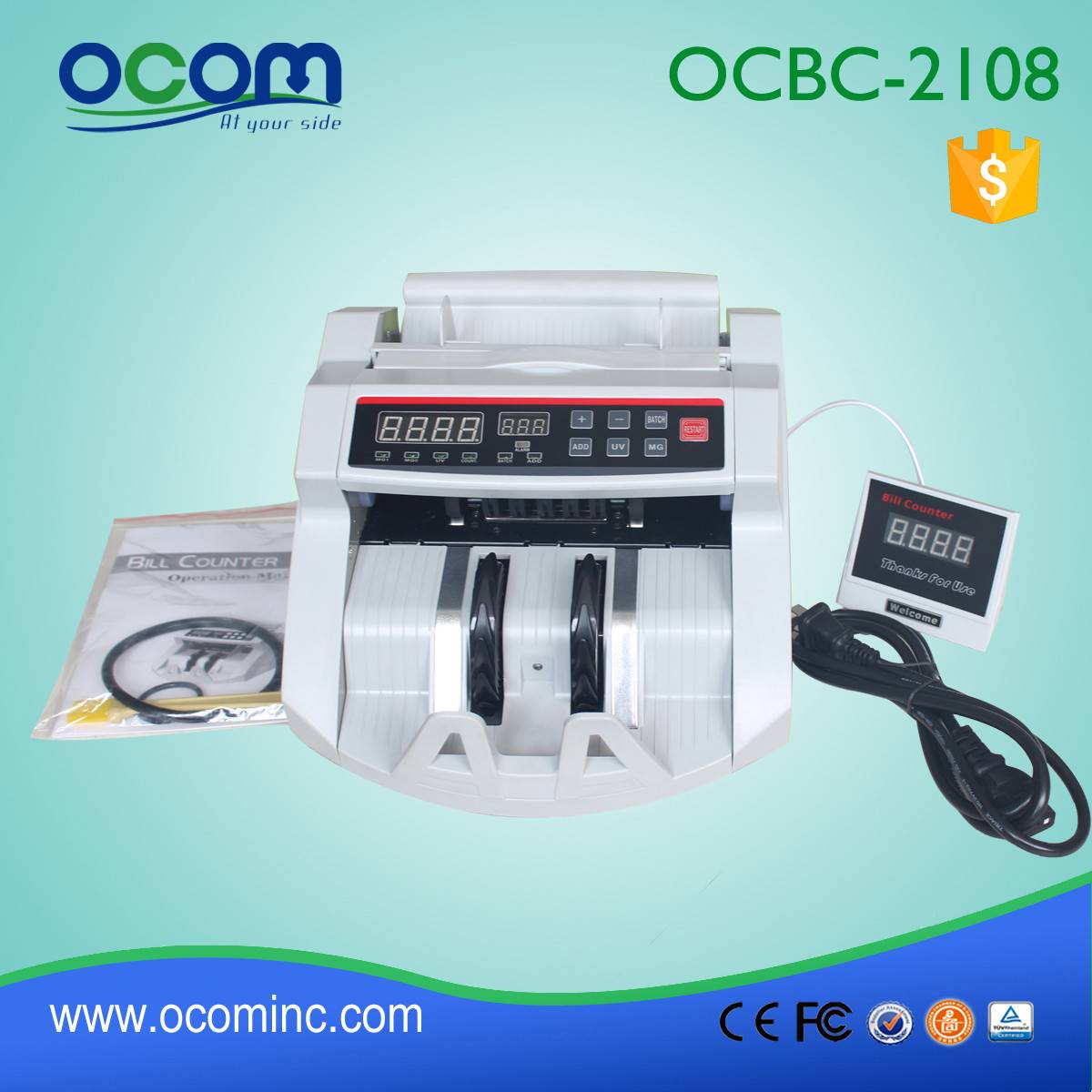 BC-2108: supermarket cash counter banknote counting machine