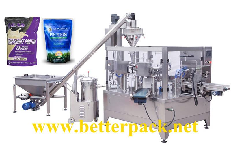 Automatic powder doypack packaging machines