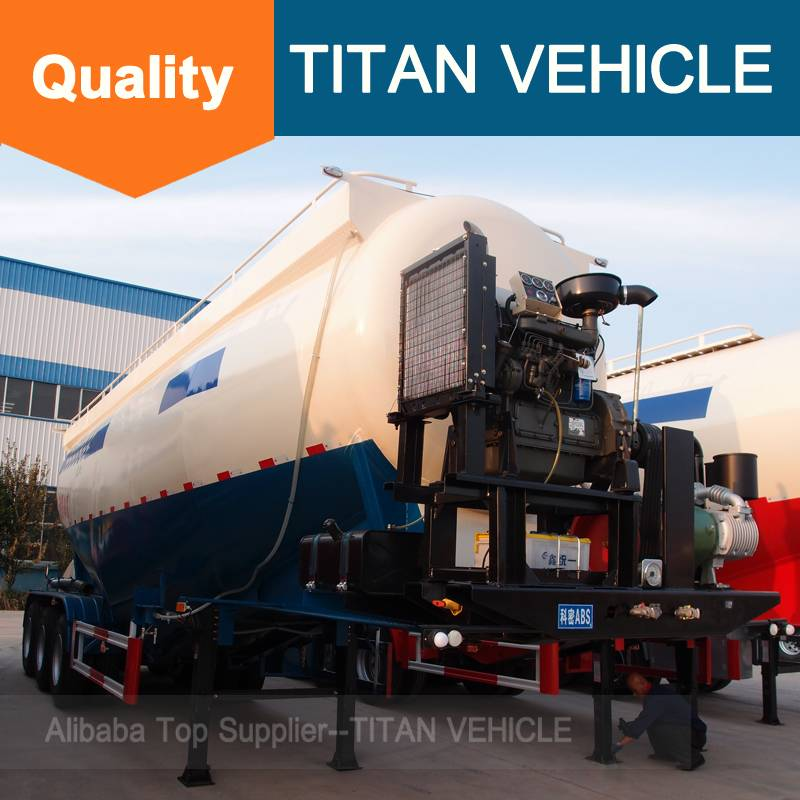 Titan Vehicle 3 axle bulk cement tanker semi trailer Cement Bulk Trailers for sale