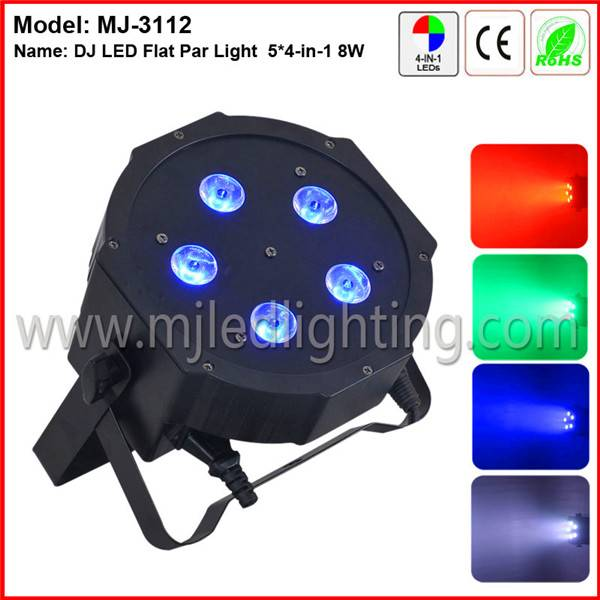 High luminus master/slave sound control 4IN1 5 RGBW led flat par can