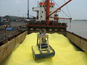 Sulphur Lump bright yellow 99.9% in bulk Vessel from Russia, Prompt Delivery