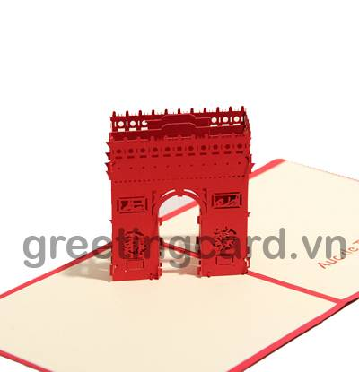 Pop up card greeting paper card 3D handmade card