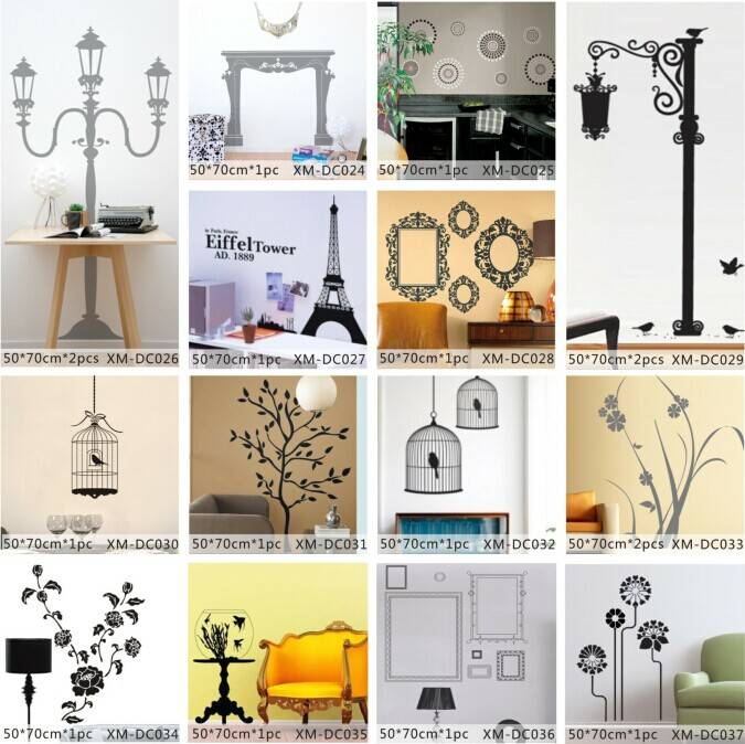 Eiffel Tower Printed Home Decorative Wall Sticker