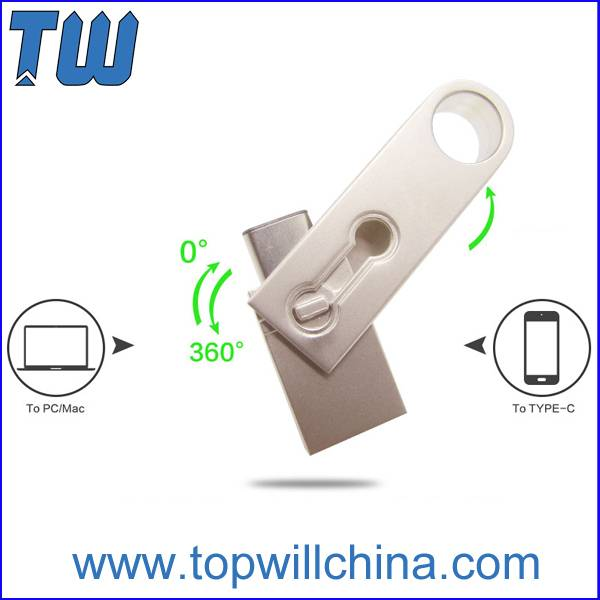 Fast Delivery Key Ring Usb 3.1 Type C Pen Drive Usb 3.0 Port Design