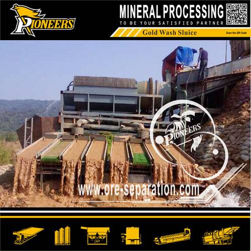 Alluvial Gold Ore Wash Sluice Plant for Sale