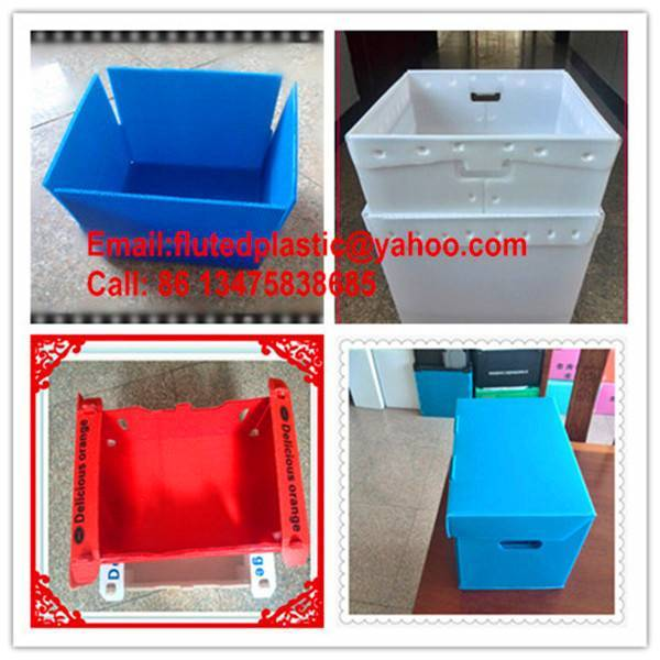 Corrugated plastic Coroplast boxes