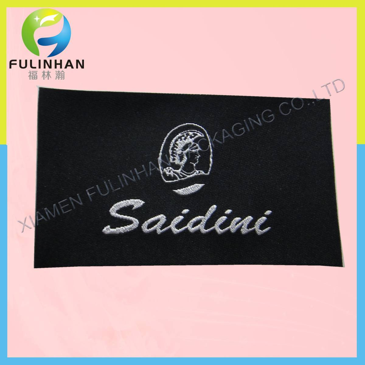 Custom woven clothing label/clothing woven label/woven label for clothing