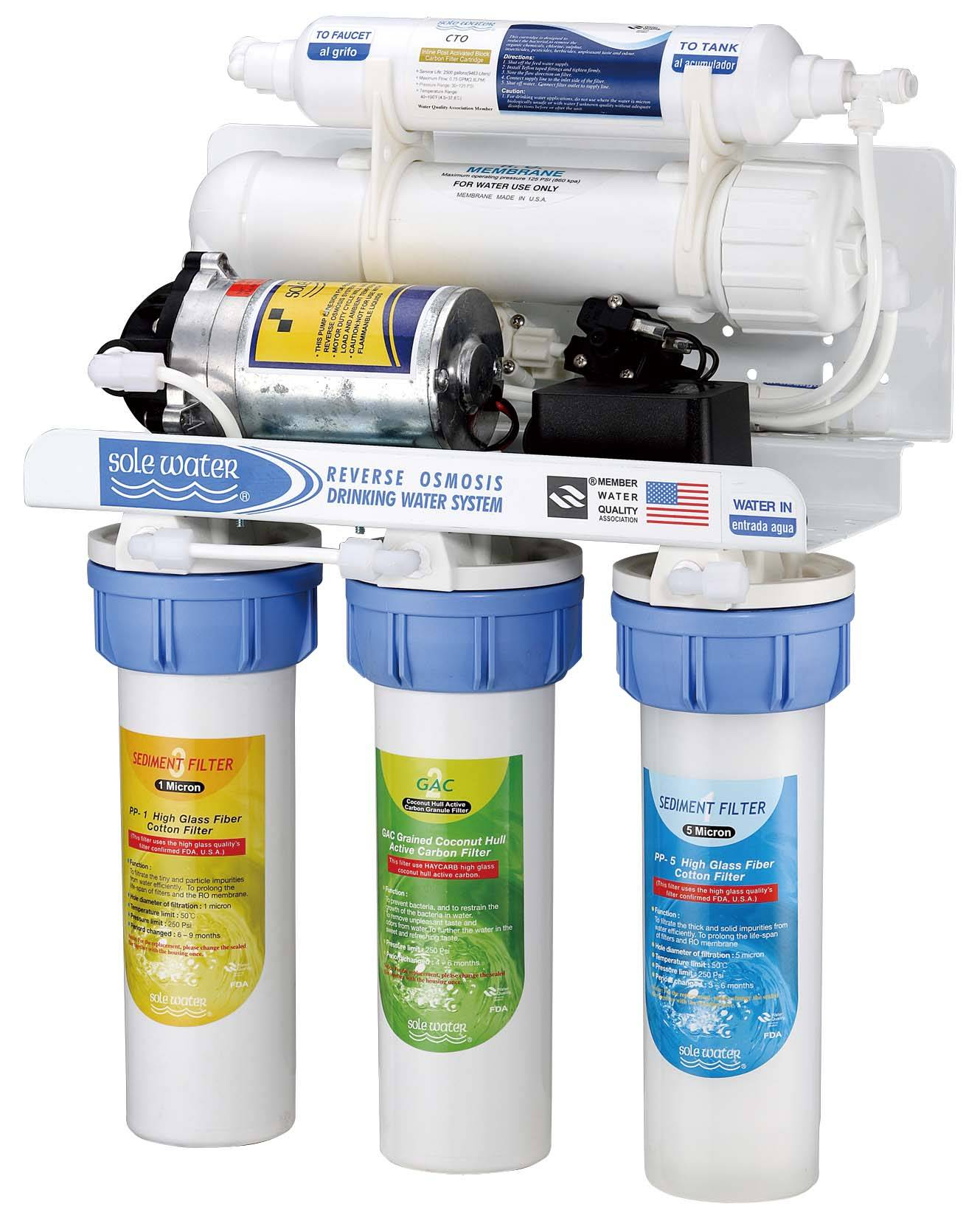 5-Stage R.O. Filtration System with Pump