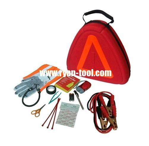 Deluxe Emergency Road Kit with Reflective Triange Case, item# 1043