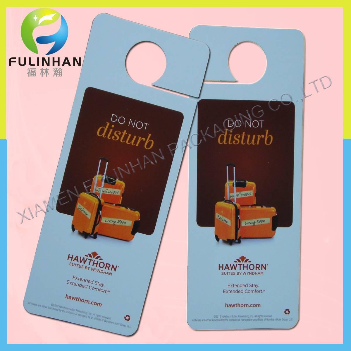 Paper Cardboard Do Not Disturb hotel door hanger