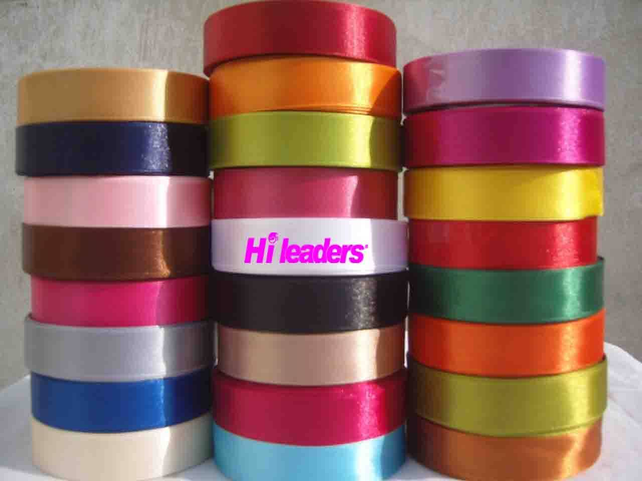 Single face polyester satin ribbon