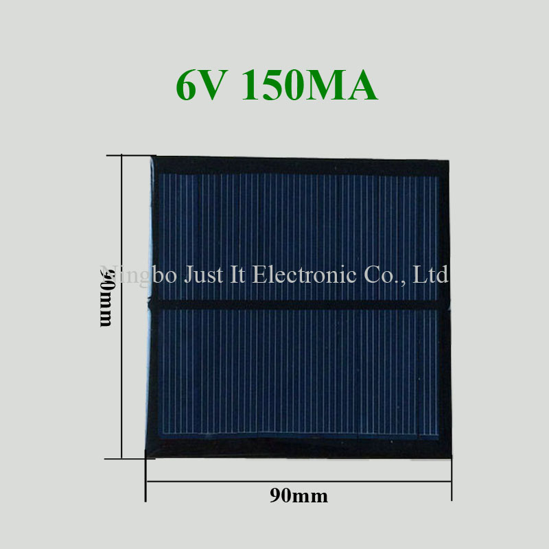 6V 150mA 0.9W 90x90mm Small Epoxy Solar Cell