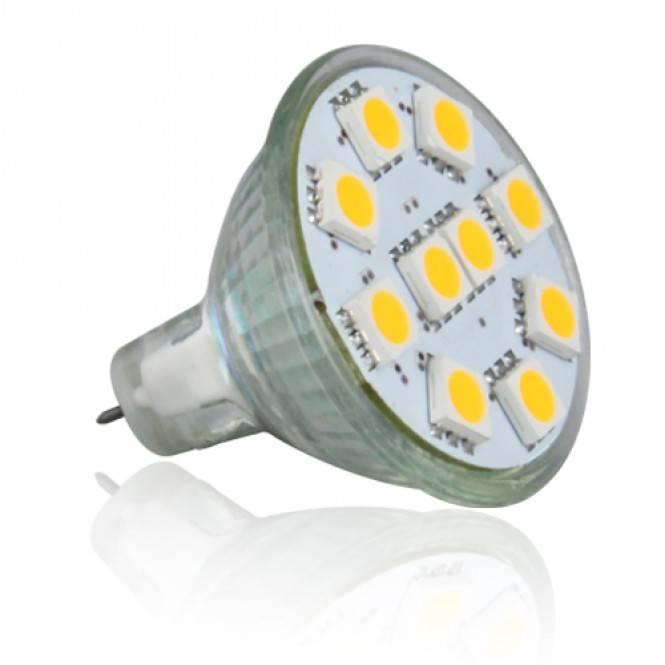 LED Bulbs 1.8W Brightest MR11 LED Bulb, 20W Halogen Bulb Equivalent, Flood Beam, Warm White