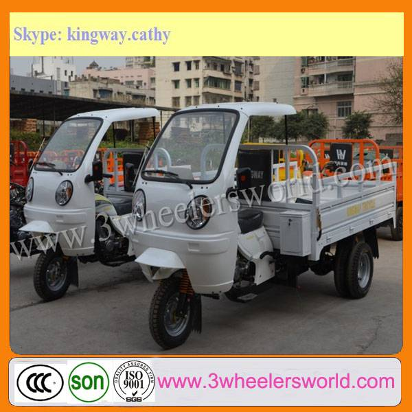 3 Wheel Vehicle of Motorcycle Tricycle Trike with Four Wheels Back Manufacture