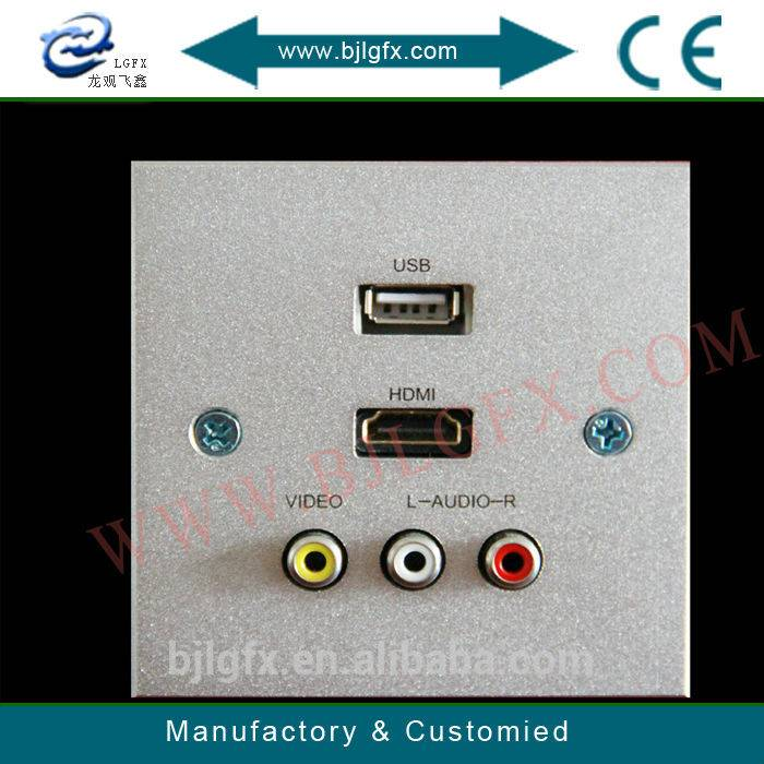 USB HDMI wall plate