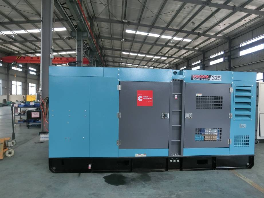 Hot Sale 350kva Soundproof Construction Used Generator