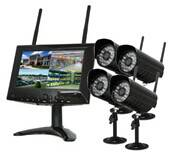 digital wireless network LCD DVR camera system