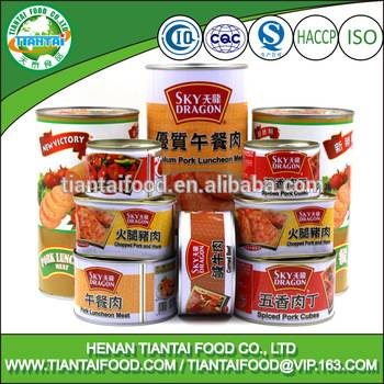 new premium food snacks canned meat products