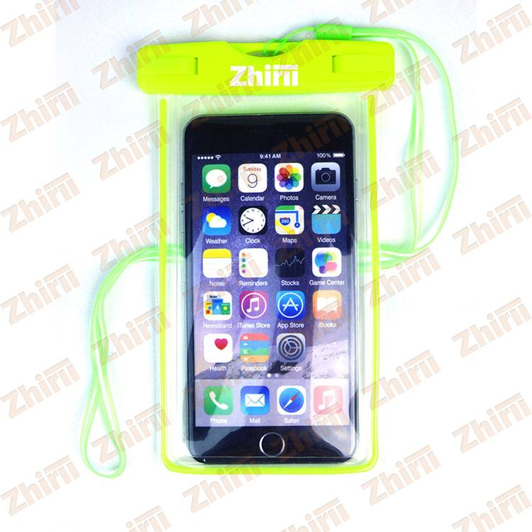 Wholesale Black Waterproof Mobile Phone Pouch With Floating