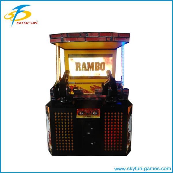 Video game machines simulator shooting machine