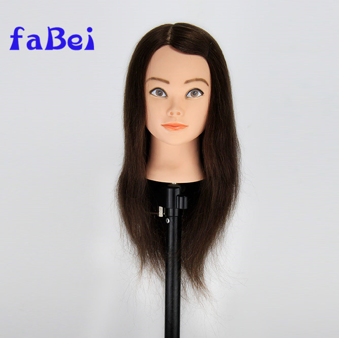 Wholesale high quality human hair natural color straight mannequin heads with hair for braiding