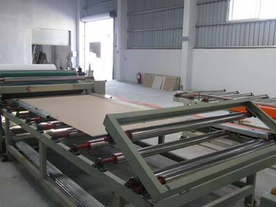 gypsum board lamination machine