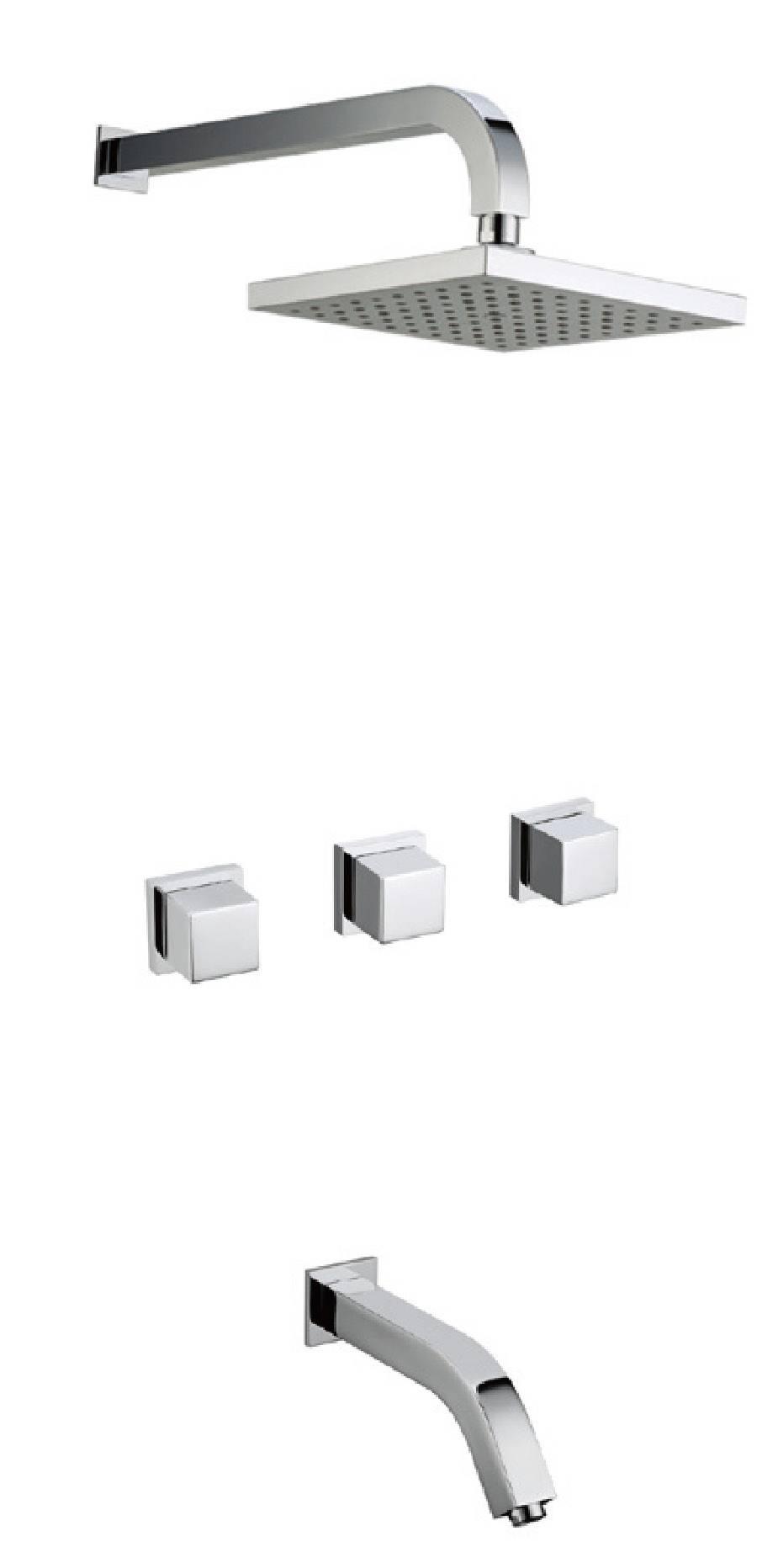 New design chrome brass rainfall bathroom concealed shower tap