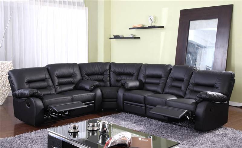 living room furniture sofa set sectional leather reclining sofa