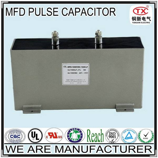 2014 Best Seller Good self-healing and Long Lifetime MFD DC PULSE CAPACITOR