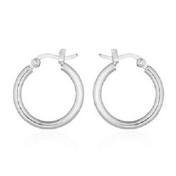 Sterling Silver Pipe Hoop Earrings