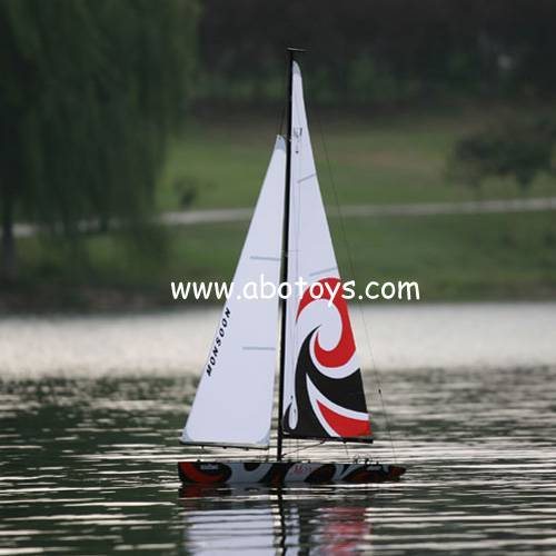 1.8 Meter High Monsoon Wind Power Racing Boat Kits(Peking Opera Mask Version)