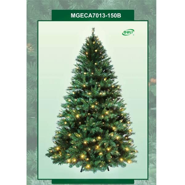 Prelit artificial christmas trees