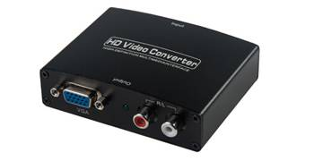 HDMI to VGA converter with R/L Audio Converter
