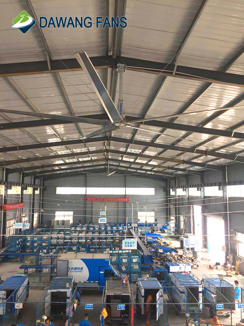 Universal Beam roof customized industrial HVLS ceiling fans