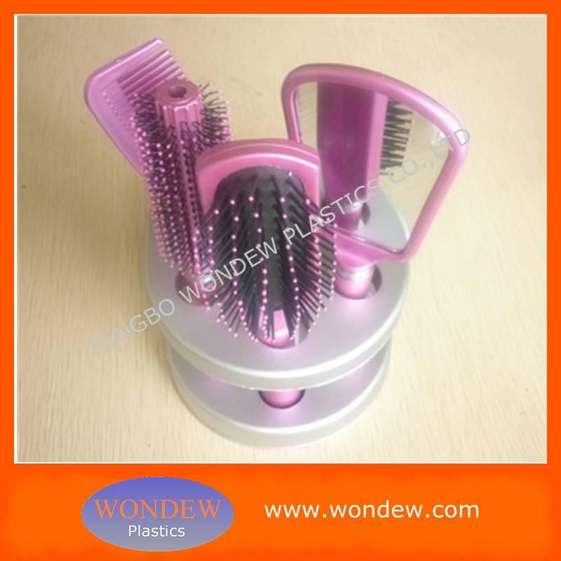 Plastic hair brush sets