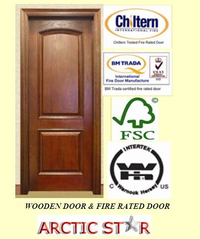 Entrance and Classic 100% Solid Wooden Door
