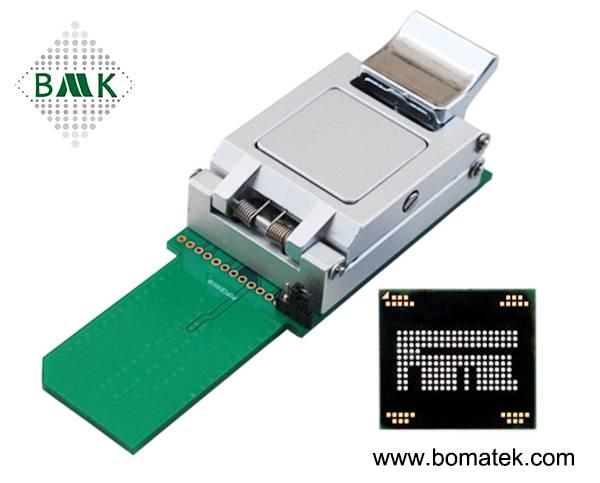 semiconductor socket eMCP burn-in& eMCP Test Socket Adapter Apply eMCP Size 12 X 16_0.5mm