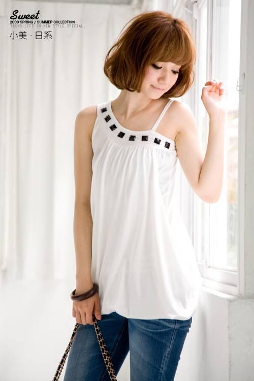 White Shirt Workout Wear Fashion Wear Single off Shoulder Fake Two Piece Shirt
