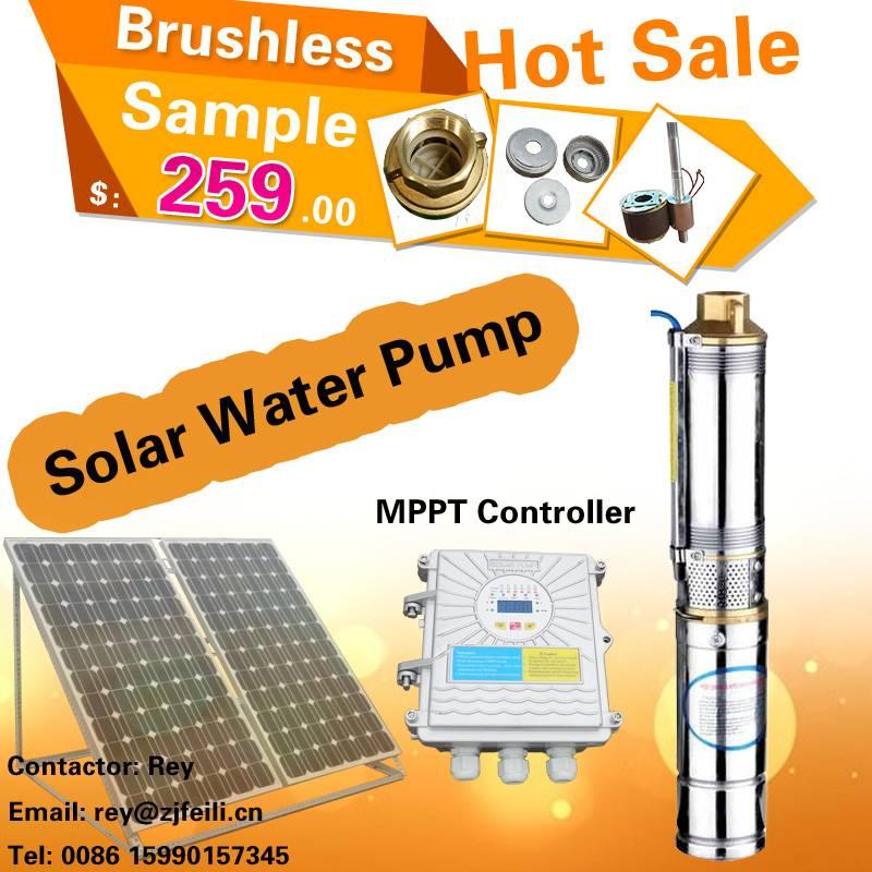 Zhejiang Solar pump manufacturer bomba de agua solar submersible water pump parts dc 48v water pump
