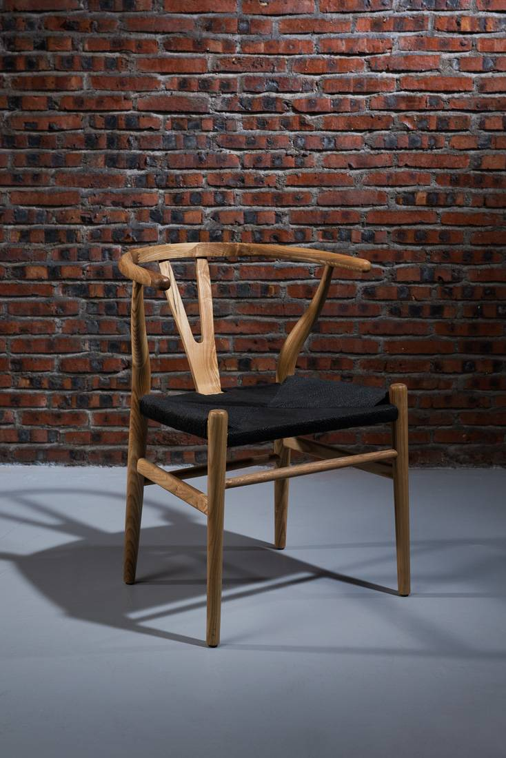 antique solid wood Chair Wishbone Chair/ Wood Wishbone Y Chair/wooden dining chair