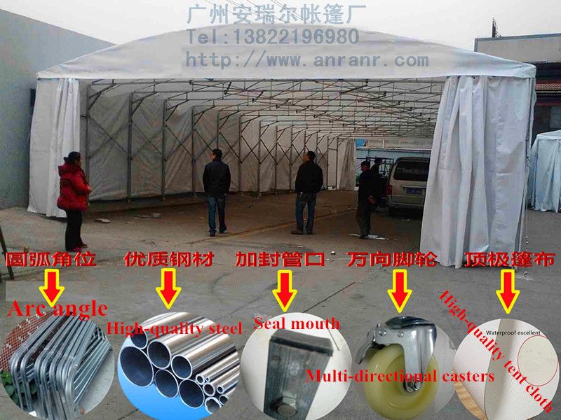 Galvanized pipe push and pull tents, Guangzhou push and pull tents factory outlets