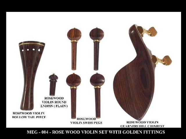 Rosewood Violin Set with Gold fittings.